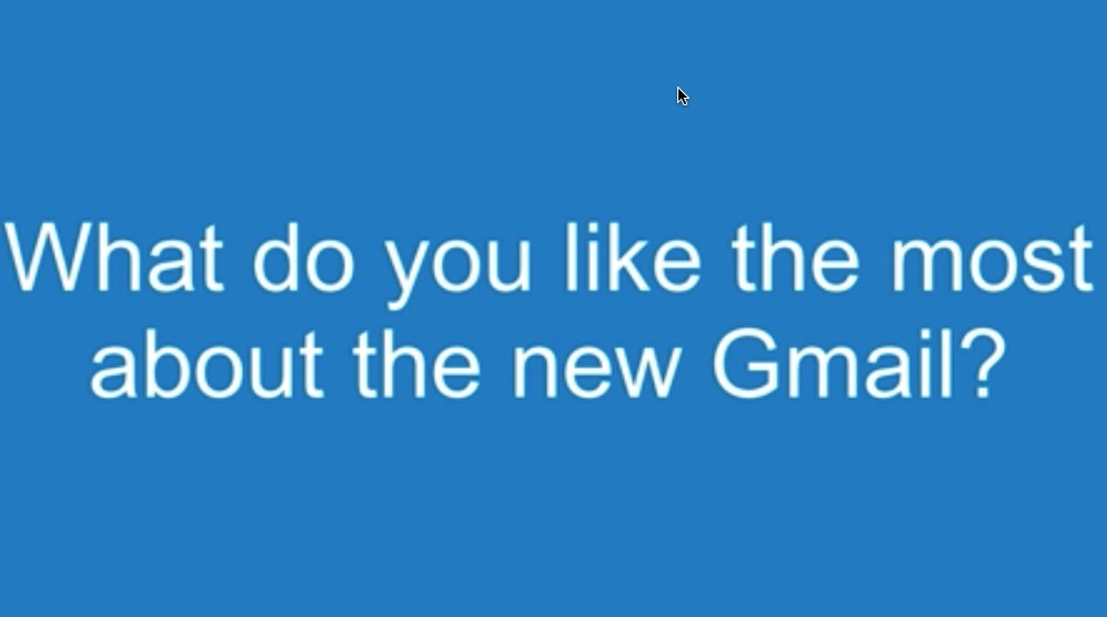 What do you like about the new Gmail features 2018